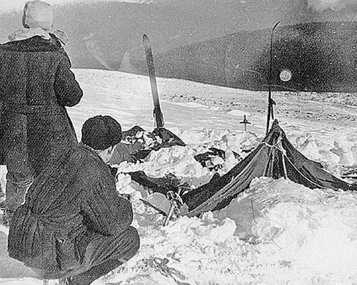 На месте обнаружения палатки