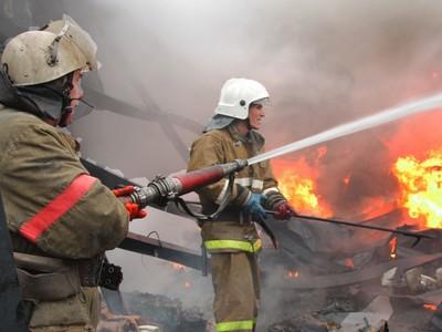 Огонь уничтожил надворные постройки водном издворов Сарапула